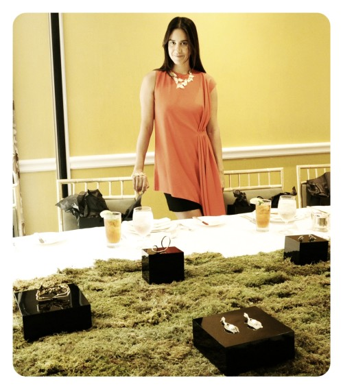 Jewelry designer Ana Khouri at Net-A-Porter luncheon.