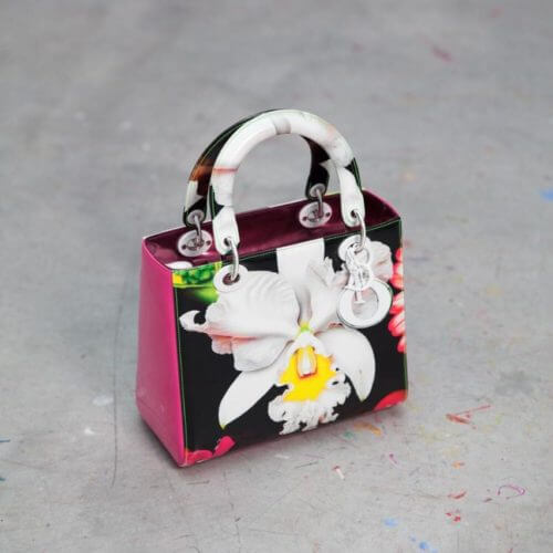 Lady Dior, painted with signature Marc Quinn orchids