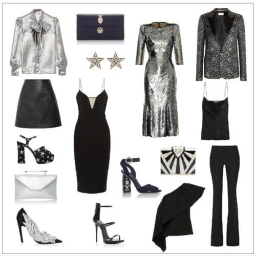 New Year's Eve Mix and Match Black and Silver