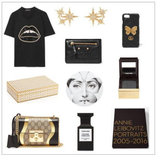 Gift Guide in Black and Gold