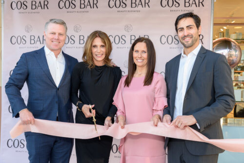 Lily Garfield Cos Bar ribbon cutting with ceo David Olsen