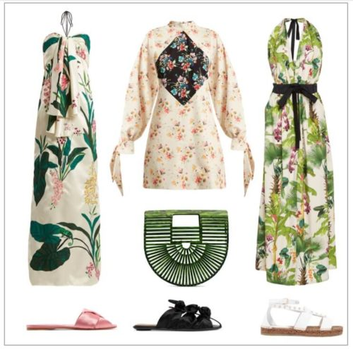 Floral fashion, tropical party