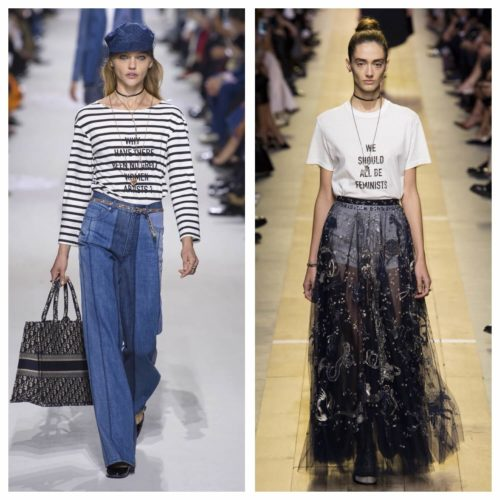 Christian Dior, spring RTW 2018 and spring RTW 2017