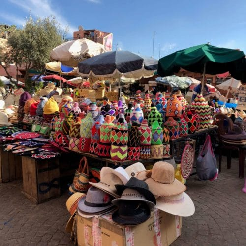 Marrakech, Morocco - shopping in the souks