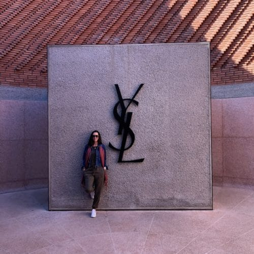 Max Trowbridge at Yves Saint Laurent Museum in Marrakech, Morocco