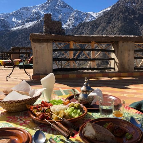 View of the High Atlas Mountains
