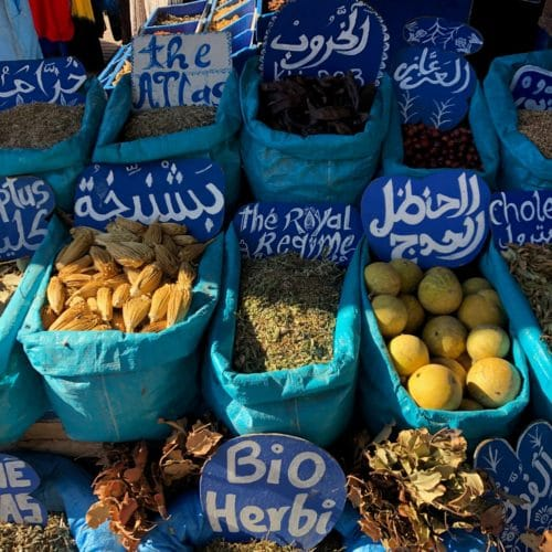 spices in the market at Essaouira
