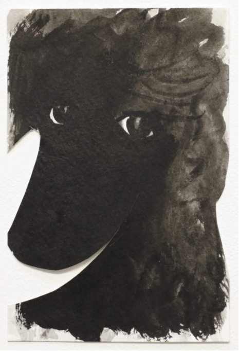Amadeus, 2020, ink on Strathmore watercolor, 6 x 4 inches, Keer Tanchak