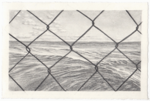 Mother Tongue II, 2020, graphite on paper, 4 x 6 inches, Corrie Thompson